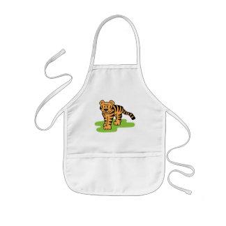 Cartoon Clip Art Bengal Tiger Big Cat with Stripes Aprons