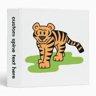 Cartoon Clip Art Bengal Tiger Big Cat with Stripes 3 Ring Binder