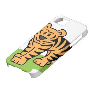 Cartoon Clip Art Bengal Tiger Big Cat with Stripes iPhone SE/5/5s Case