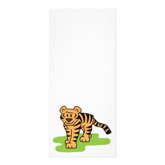 Cartoon Clip Art Bengal Tiger Big Cat with Stripes Custom Rack Card