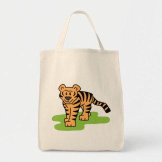 Cartoon Clip Art Bengal Tiger Big Cat with Stripes Tote Bag