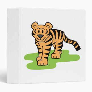 Cartoon Clip Art Bengal Tiger Big Cat with Stripes Vinyl Binder
