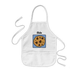 Cartoon Clip Art Chocolate Chip Cookie Dessert Kids' Apron