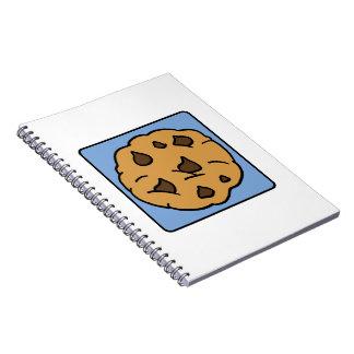 Cartoon Clip Art Chocolate Chip Cookie Dessert Spiral Notebook