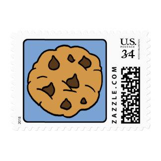 Cartoon Clip Art Chocolate Chip Cookie Dessert Postage Stamp