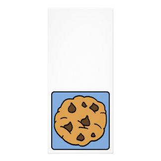 Cartoon Clip Art Chocolate Chip Cookie Dessert Customized Rack Card