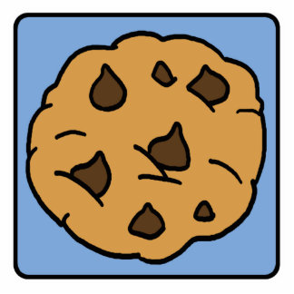 Cartoon Clip Art Chocolate Chip Cookie Dessert Statuette