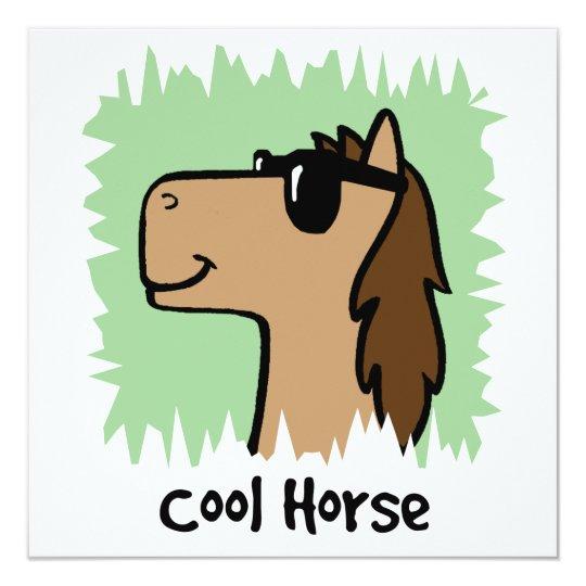 Cartoon Clip Art Cool Horse Wearing Sunglasses Card