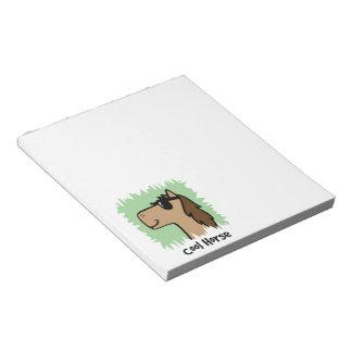 Cartoon Clip Art Cool Horse Wearing Sunglasses Notepad