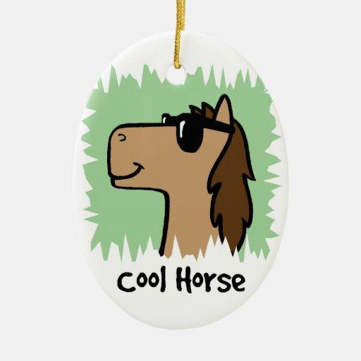 Cartoon Clip Art Cool Horse Wearing Sunglasses Ornaments