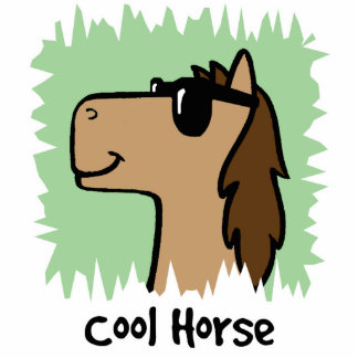 Cartoon Clip Art Cool Horse Wearing Sunglasses Statuette