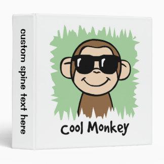 Cartoon Clip Art Cool Monkey with Sunglasses Vinyl Binders