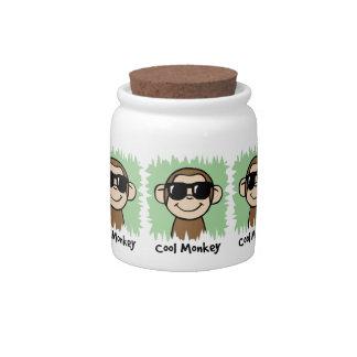 Cartoon Clip Art Cool Monkey with Sunglasses Candy Jar