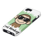 Cartoon Clip Art Cool Monkey with Sunglasses iPhone 5 Covers