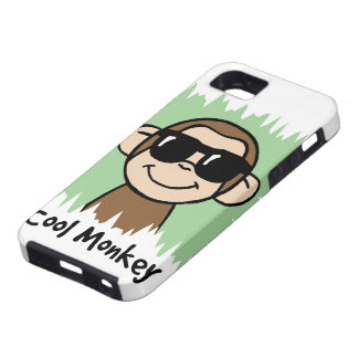 Cartoon Clip Art Cool Monkey with Sunglasses iPhone SE/5/5s Case