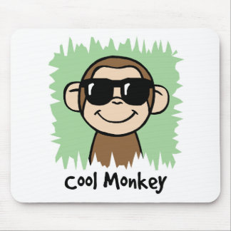Cartoon Clip Art Cool Monkey with Sunglasses Mouse Pad