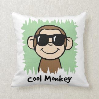 Cartoon Clip Art Cool Monkey with Sunglasses Throw Pillows