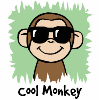 Cartoon Clip Art Cool Monkey with Sunglasses Statuette