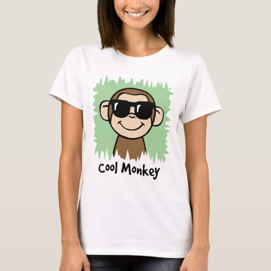 Cartoon Clip Art Cool Monkey with Sunglasses T-Shirt
