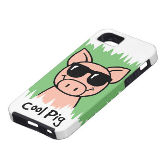 Cartoon Clip Art Cool Pig with Sunglasses iPhone SE/5/5s Case