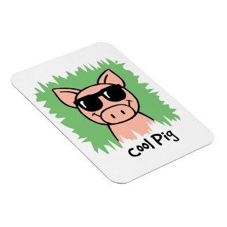 Cartoon Clip Art Cool Pig with Sunglasses Vinyl Magnet