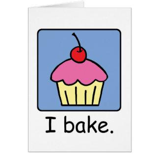 Cartoon Clip Art Cupcake Dessert Pink Frosting Card