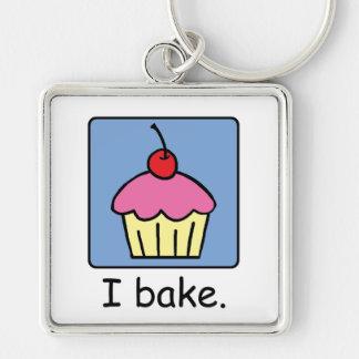 Cartoon Clip Art Cupcake Dessert Pink Frosting Keychain