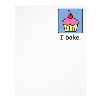 Cartoon Clip Art Cupcake Dessert Pink Frosting Letterhead