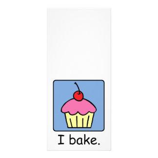 Cartoon Clip Art Cupcake Dessert Pink Frosting Rack Card