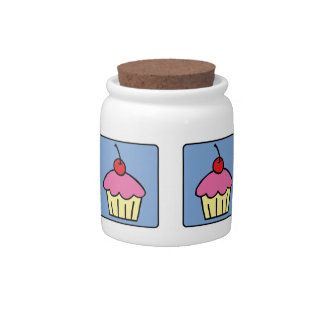 Cartoon Clip Art Cupcake Frosting Cherry Dessert Candy Dish