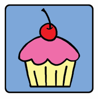 Cartoon Clip Art Cupcake Frosting Cherry Dessert Cutout
