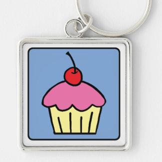 Cartoon Clip Art Cupcake Frosting Cherry Dessert Keychain