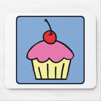 Cartoon Clip Art Cupcake Frosting Cherry Dessert Mouse Pad