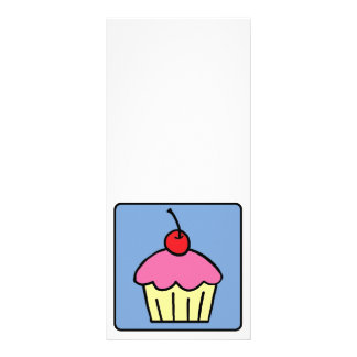 Cartoon Clip Art Cupcake Frosting Cherry Dessert Rack Card Design