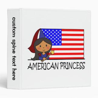 Cartoon Clip Art Cute American Princess Flag Binder