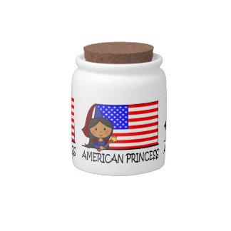 Cartoon Clip Art Cute American Princess Flag Candy Jars