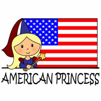 Cartoon Clip Art Cute American Princess Flag Cutout