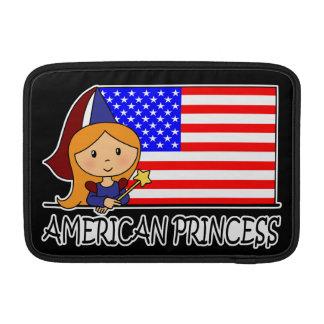 Cartoon Clip Art Cute American Princess Flag MacBook Sleeve