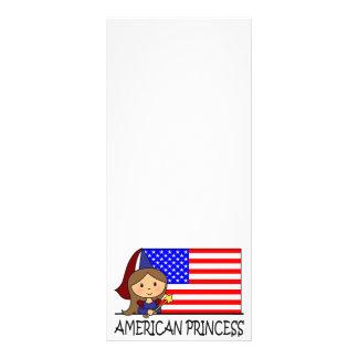 Cartoon Clip Art Cute American Princess Flag Custom Rack Cards