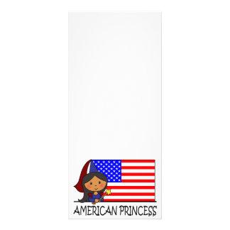 Cartoon Clip Art Cute American Princess Flag Rack Cards