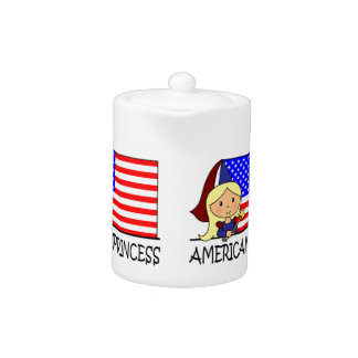 Cartoon Clip Art Cute American Princess Flag Teapot