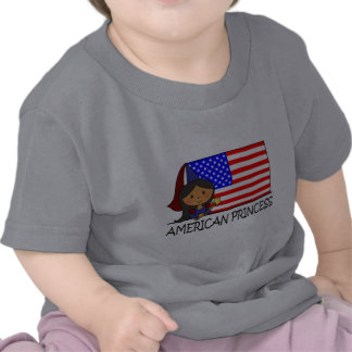 Cartoon Clip Art Cute American Princess Flag Tee Shirts