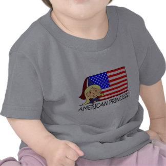 Cartoon Clip Art Cute American Princess Flag Tees