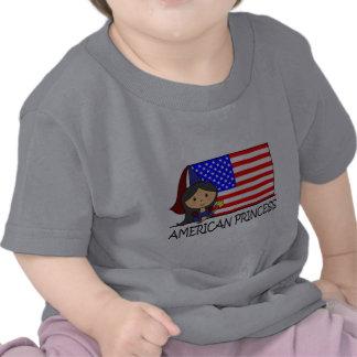 Cartoon Clip Art Cute American Princess Flag T-shirts