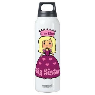 Cartoon Clip Art Cute Big Sister Princess Hearts 16 Oz Insulated SIGG Thermos Water Bottle