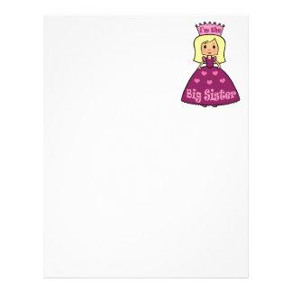 Cartoon Clip Art Cute Big Sister Princess Hearts Letterhead