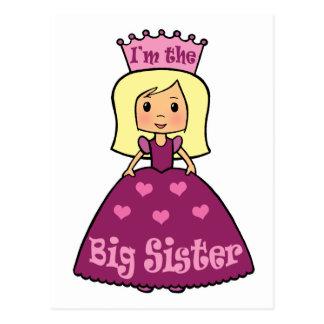 Cartoon Clip Art Cute Big Sister Princess Hearts Postcard