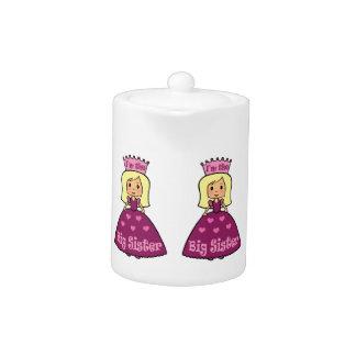Cartoon Clip Art Cute Big Sister Princess Hearts Teapot
