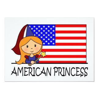 Cartoon Clip Art Cute Princess Girl Birthday Party 5x7 Paper Invitation Card