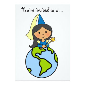 Cartoon Clip Art Cute Princess Girl Birthday Party Custom Announcement